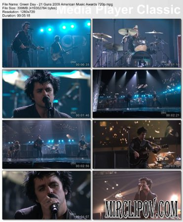 Green Day - 21 Guns (Live, AMA, 2009)