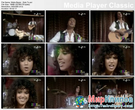 Matia Bazar - Solo Tu (Live, 80s)