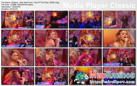 Shakira - She Wolf (Live, Top Of The Pops, 2009)