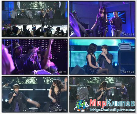 Justin Bieber Feat. Selena Gomez - One Less Lonely Girl (Live, Dick Clarks New Years Rockin Eve, 2010)