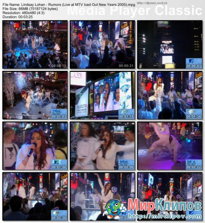 Lindsay Lohan - Rumors (Live, MTV Iced Out New Years)