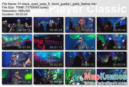 Black Eyed Peas Feat. David Guetta - I Gotta Feeling (Live, NRJ Music Awards, 2010)