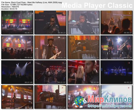 Black Eyed Peas - Meet Me Halfway (Live, AMA, 2009)