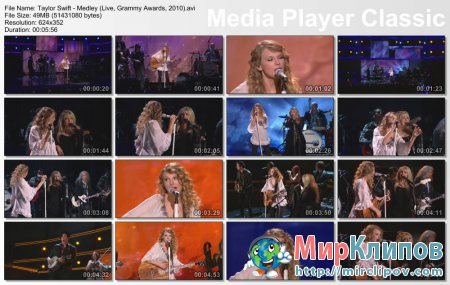 Taylor Swift - Medley (Live, Grammy Awards, 2010)