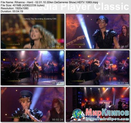 Rihanna - Hard (Live, Ellen DeGeneres Show, 02.01.10)