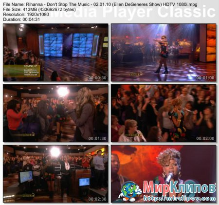 Rihanna - Don't Stop The Music (Live, Ellen DeGeneres Show, 02.01.10)