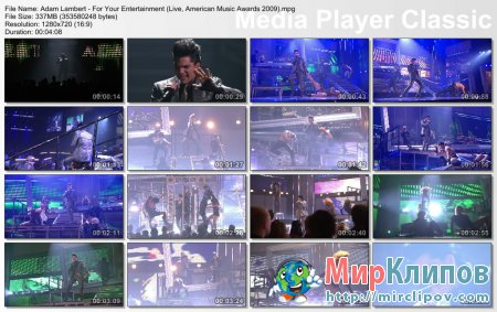 Adam Lambert - For Your Entertainment (Live, American Music Awards, 2009)