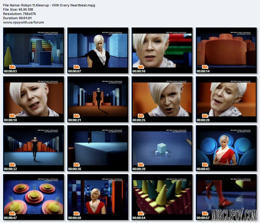 Robyn ft.Kleerup - With Every Heartbeat