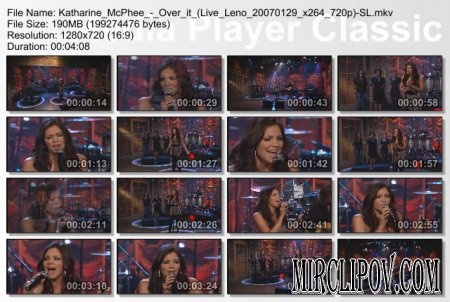 Katharine McPhee - Over it (Live Leno 2007)