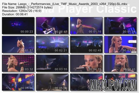 Lasgo - Performances (Live TMF Awards 2003)