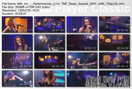 Milk Inc. - Performances (Live TMF Awards 2003)