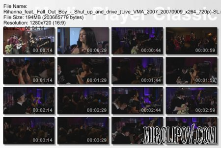 Rihanna feat. Fall Out Boy - Shut up and drive (Live VMA 2007)