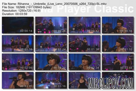 Rihanna - Umbrella (Live, Tonight Show with Jay Leno, 2007)