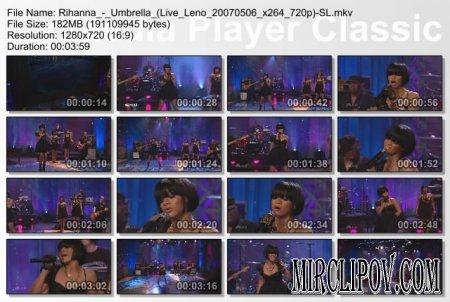 Rihanna - Umbrella (Live, Tonight Show with Jay Leno, 2007)