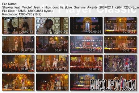 Shakira feat. Wyclef Jean - Hips don't lie (Live Grammy Awards 2007)