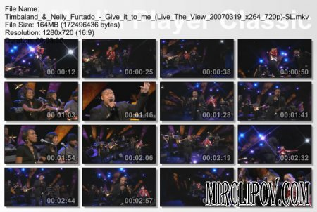 Timbaland feat. Nelly Furtado - Give it to me (Live The View 2007)