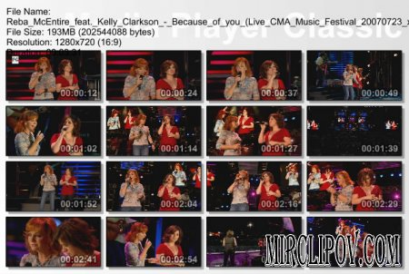 Reba McEntire feat. Kelly Clarkson - Because of you (Live CMA 2007)