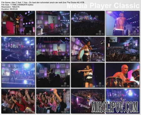 Alex C feat. Y-Ass - Du hast den schonsten arsch der welt (Live)