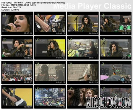 Tokio Hotel - On The Edge (Live, 15.06.07 MTV DAY In Spain, Madrid)