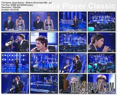 Дима Билан - Believe (Eurovision'08)