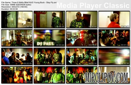 Three 6 Mafia Feat. 8 Ball MJG & Young Buck - Stay Fly