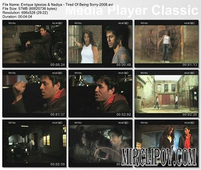Enrique Iglesias & Nadiya - Tired Of Being Sorry (2008)
