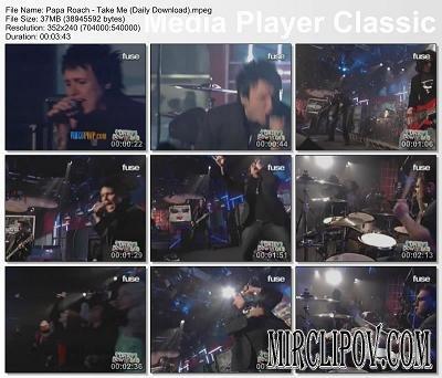 Papa Roach - Take Me (Live)