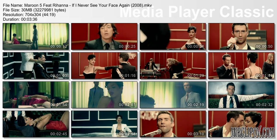 Maroon 5 Feat. Rihanna - If I Never See Your Face Again