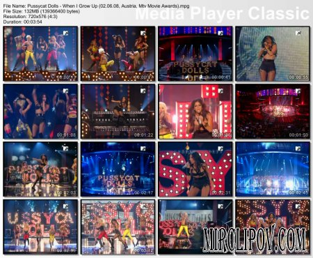 Pussycat Dolls - When I Grow Up (Live, 02.06.08, MTV Movie Awards)