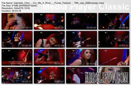 Gabriella Cilmi - Cry me a river (iTunes Festival - 18th July 2008)