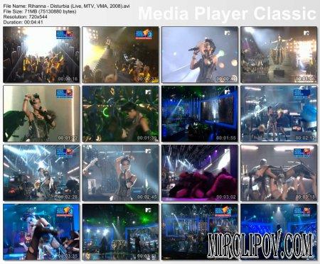 Rihanna - Disturbia (Live, MTV VMA, 2008)