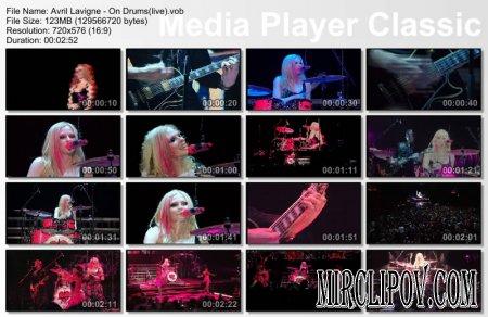 Avril Lavigne - On Drums (live)