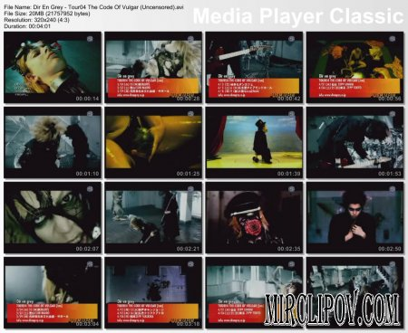 Dir En Grey - Tour04 The Code Of Vulgar (Uncensored)