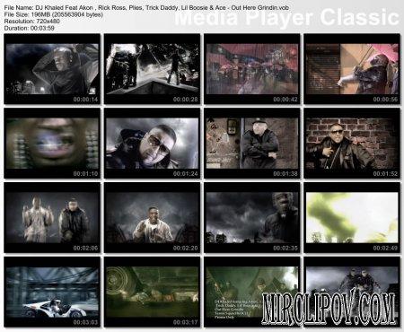 DJ Khaled Feat. Akon , Rick Ross, Plies, Trick Daddy, Lil Boosie & Ace - Out Here Grindin