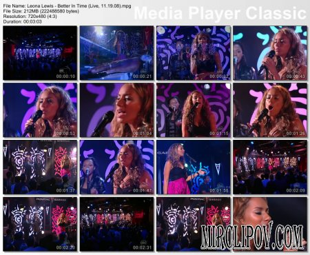 Leona Lewis - Better In Time (Live, 19.11.08)