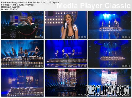 Pussycat Dolls - I Hate This Part (Live, Wetten Dass, 13.12.08)