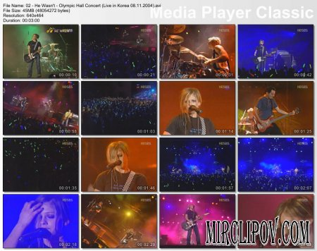 Avril Lavign - He Wasn't (Live in Korea, 08.11.2004)