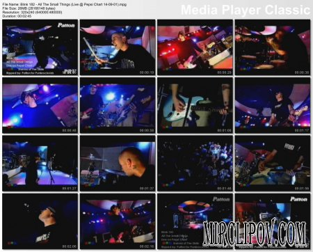 Blink 182 - All The Small Things (Live, Pepsi Chart 14-09-01)