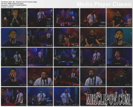 Blink 182 - Dammit (Live On Conan)