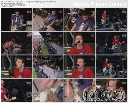 Blink 182 - Going Away To College (Live At Sydney Big Day Out 2000)