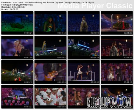 Leona Lewis - Whole Lotta Love (Live, 24.08.08)