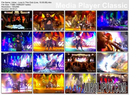 Usher - Love In This Club (Live, 10.05.08)