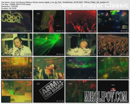 Armin Van Buuren, Markus Schulz, James Algate - Live @ Kiev GodsKitchen 08.05.2007