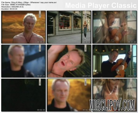 Sting Feat. Mary J. Blige - Whenever I Say Your Name