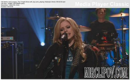 Avril Lavigne - Nobody's Home (Live, Tonight Show with Jay Leno, 09.02.05)