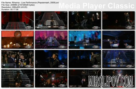 Rihanna - Live Perfomance (Pepsismash, 2009)