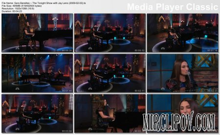 Sara Bareilles -  (Live, Tonight Show with Jay Leno, 03.02.09)