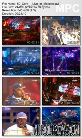50 Cent Feat. Young Buck & Olivia - Medley (Live, Moscow, Muz-Tv, 2006)