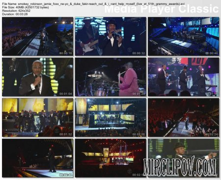 Smokey Robinson, Jamie Foxx, Ne Yo & Duke Fakir - Reach Out (I'll Be There) / I Can't Help Myself (Live, Grammy Awards, 2009)