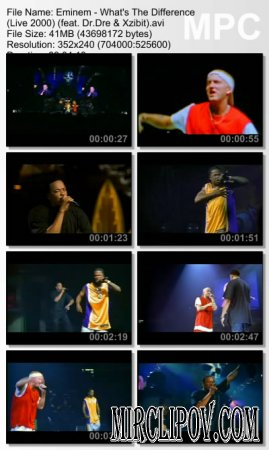 Eminem Feat. Dr. Dre & Xzibit - What's The Difference (Live, 2000)